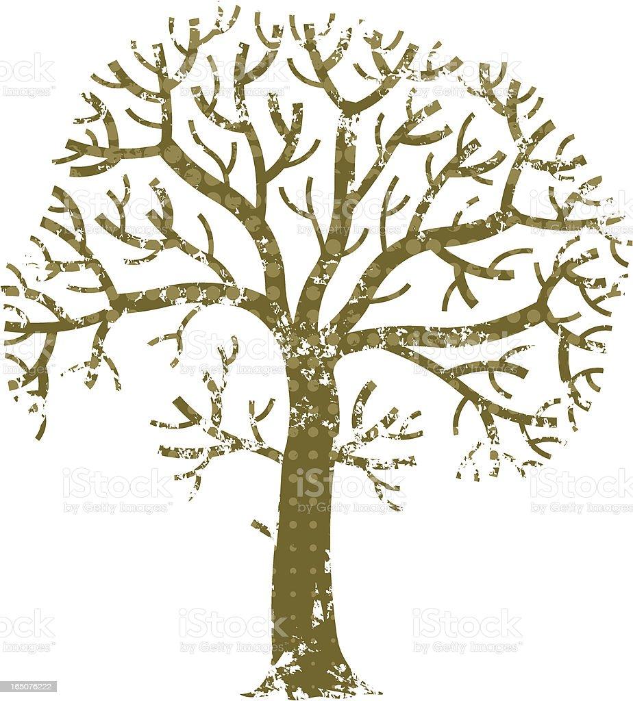 Halftone grunge winter tree royalty-free stock vector art