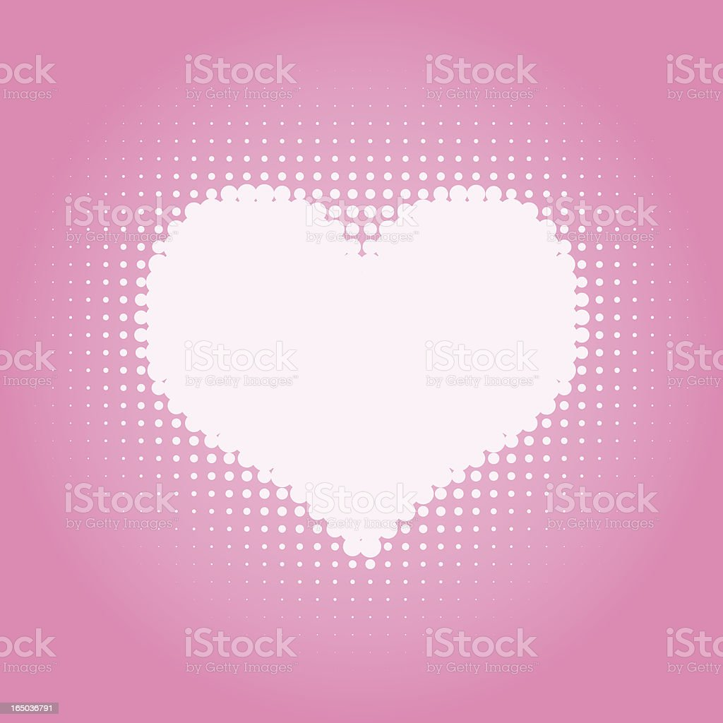 Halftone Heart ( vector ) royalty-free stock vector art