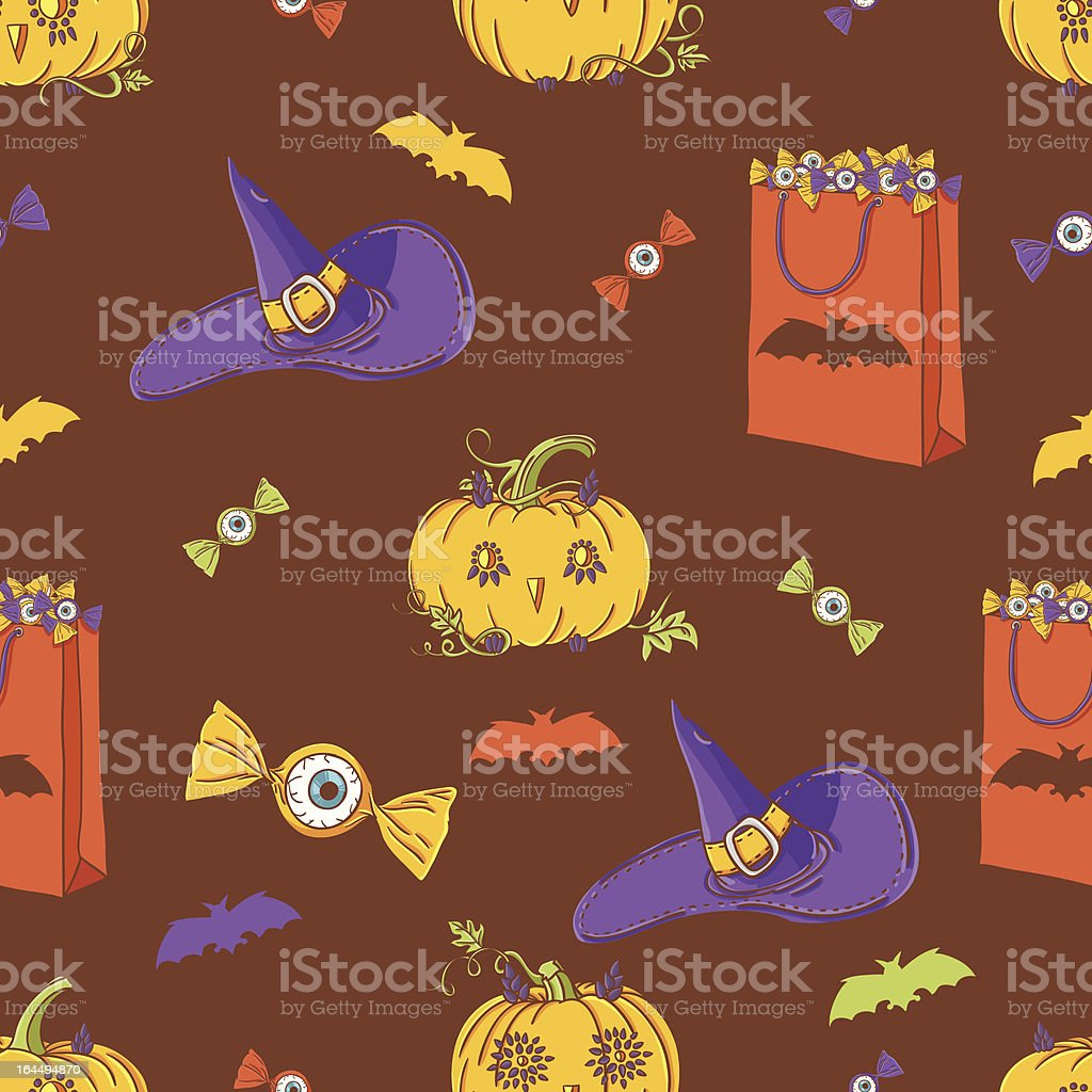 Halloween background with pumpkins royalty-free stock vector art