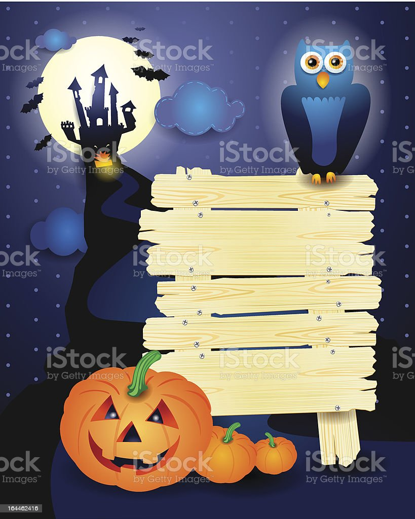 Halloween background with sign royalty-free stock vector art