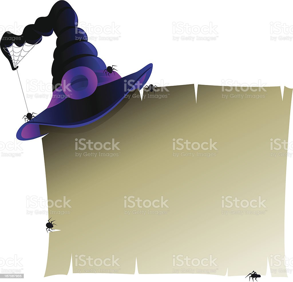Halloween Banner with Witch's Hat royalty-free stock vector art