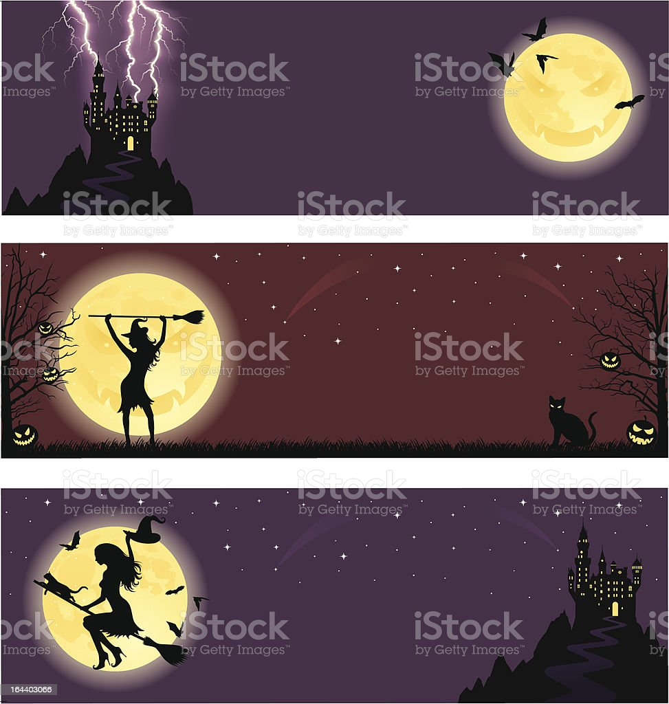Halloween banners. royalty-free stock vector art