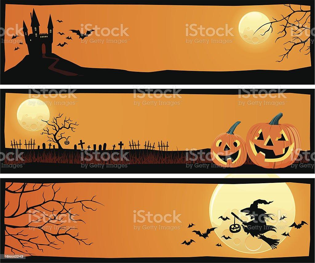 Halloween Banners vector art illustration