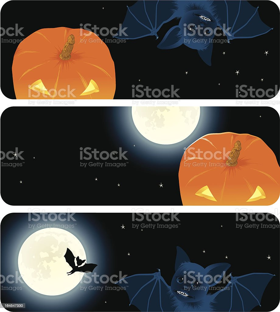 Halloween banners royalty-free stock vector art