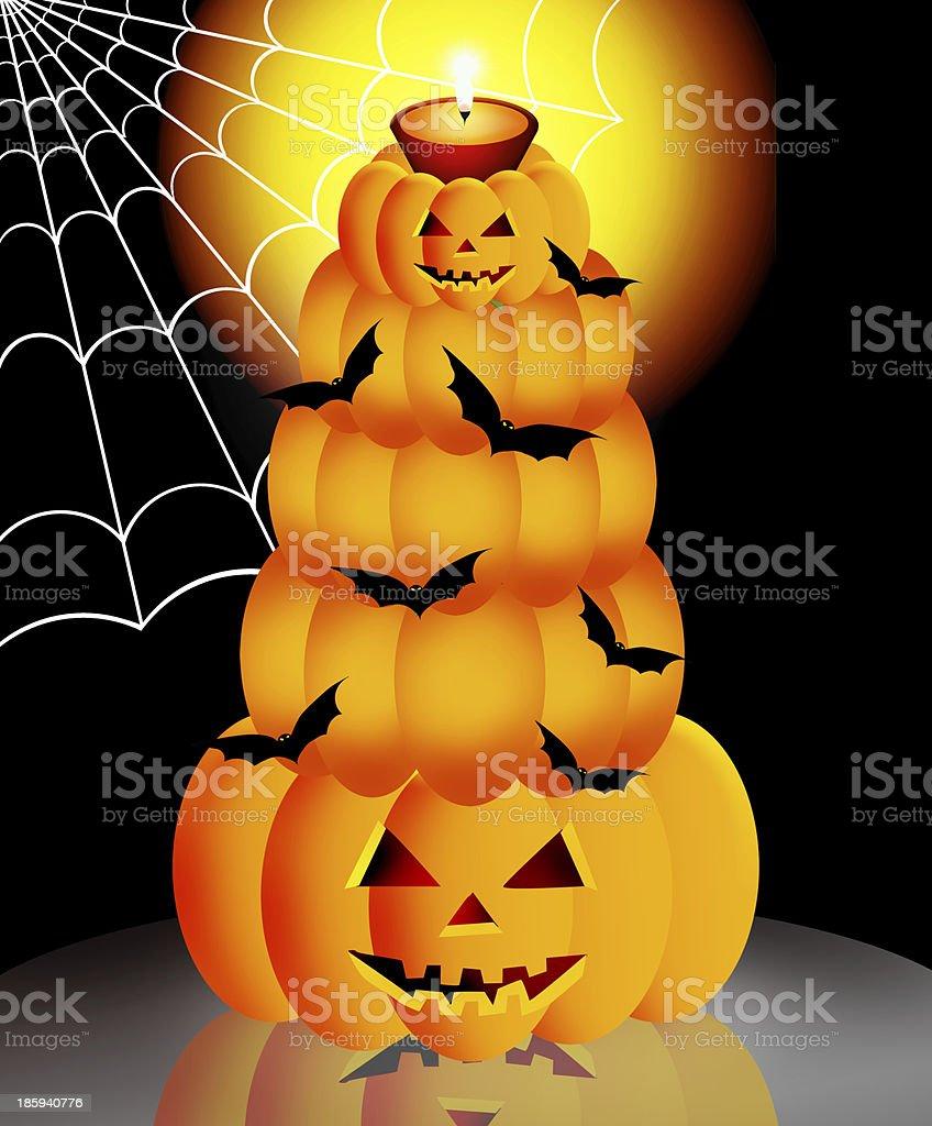 Halloween cake royalty-free stock vector art