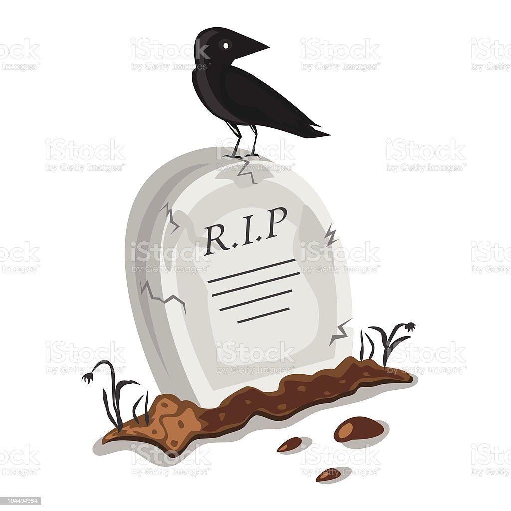 Halloween cemetery royalty-free stock vector art