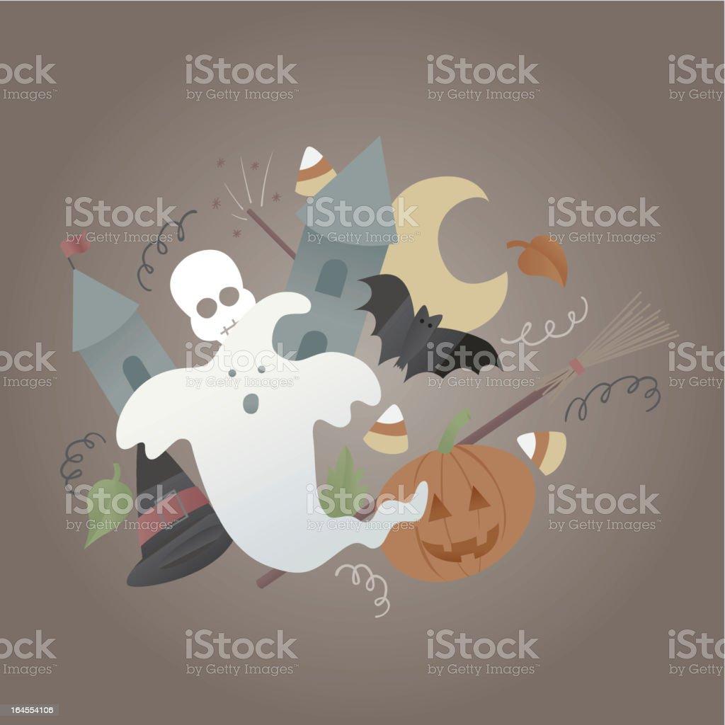 Halloween Characters royalty-free stock vector art