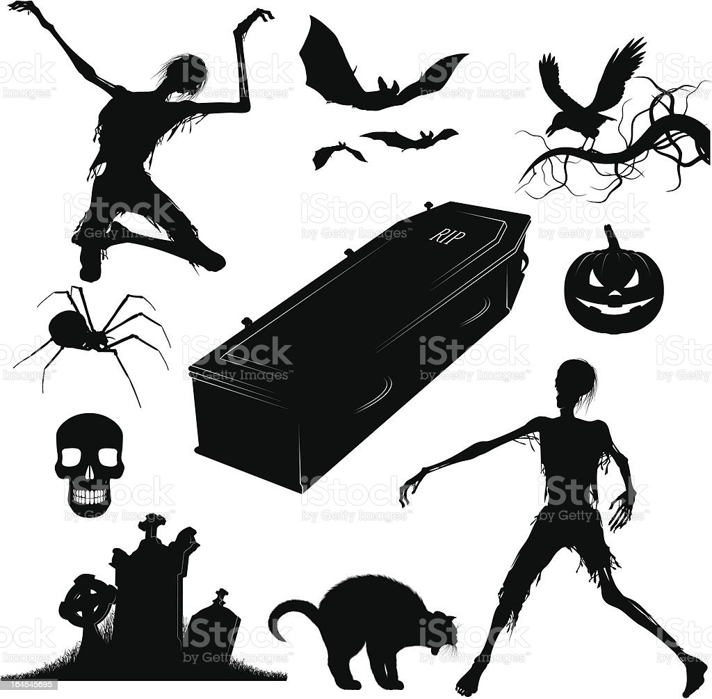 Halloween Elements royalty-free stock vector art