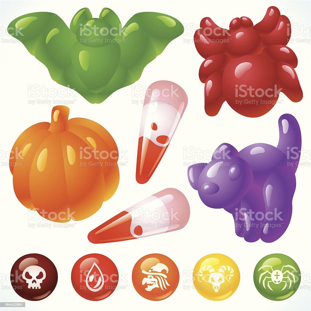 Halloween Food 3. Creepy Treats and Tasty Eats royalty-free stock vector art
