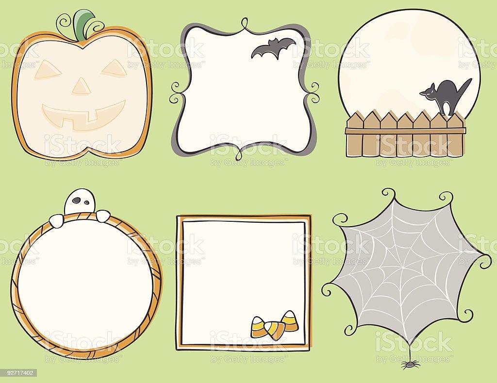Halloween Frames royalty-free stock vector art
