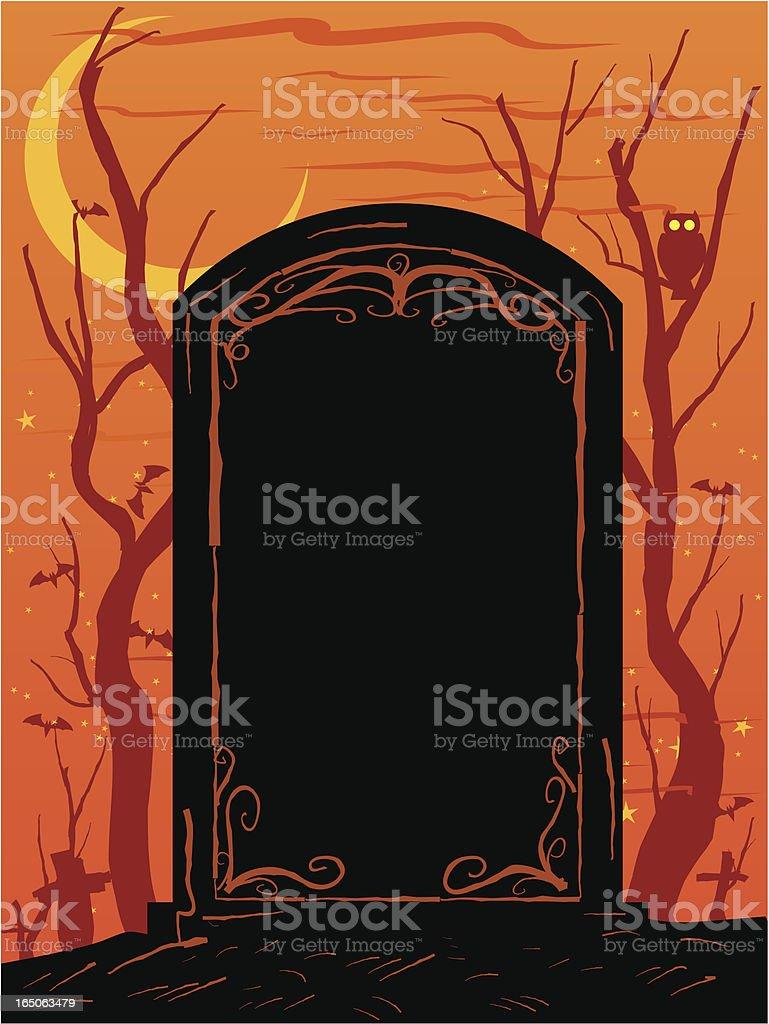 halloween grave royalty-free stock vector art