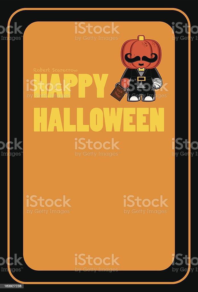 Halloween Holiday Card (Front or Folded Inward) royalty-free stock vector art
