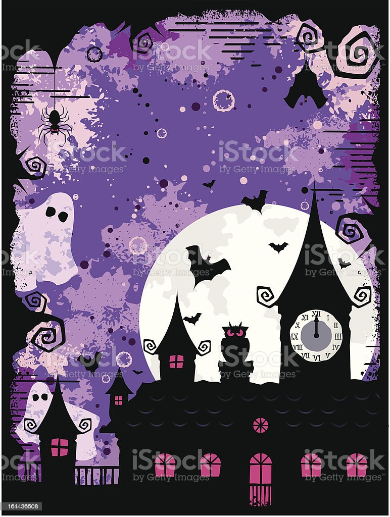 Halloween in the Midnight royalty-free stock vector art