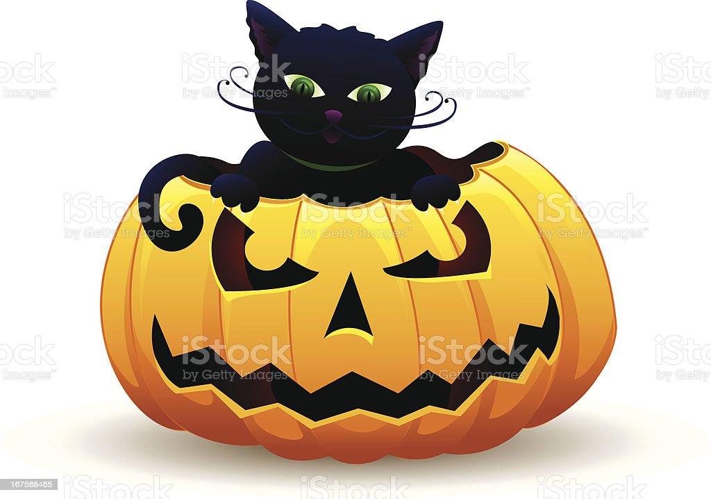 Halloween Kitty royalty-free stock vector art