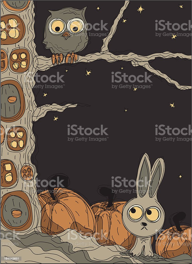 Halloween magic forest royalty-free stock vector art