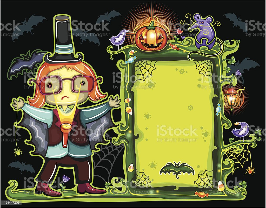 Halloween magical frame royalty-free stock vector art