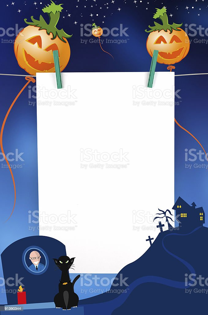 Halloween message royalty-free stock vector art
