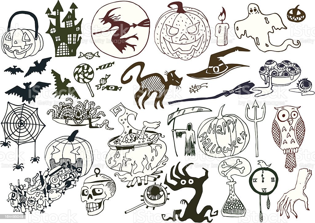 Halloween Objects Collection royalty-free stock vector art