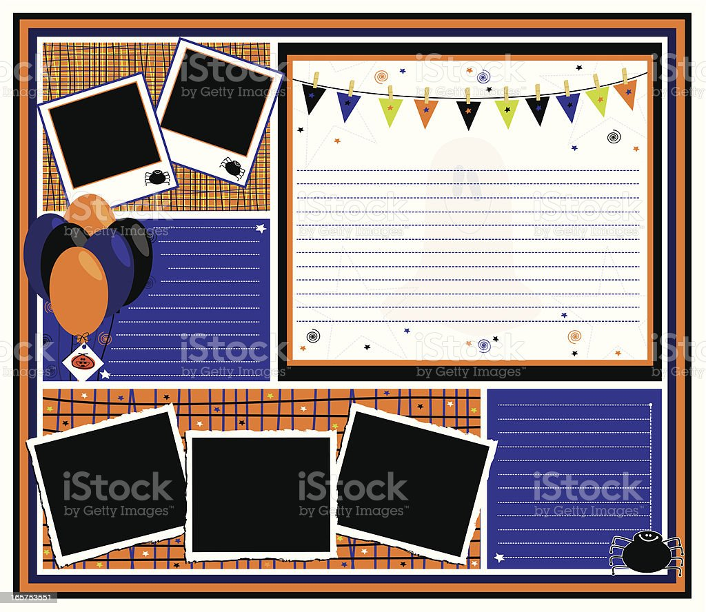 Halloween Party Page royalty-free stock vector art
