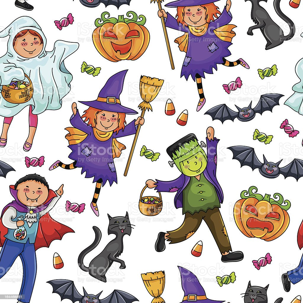 Halloween pattern royalty-free stock vector art