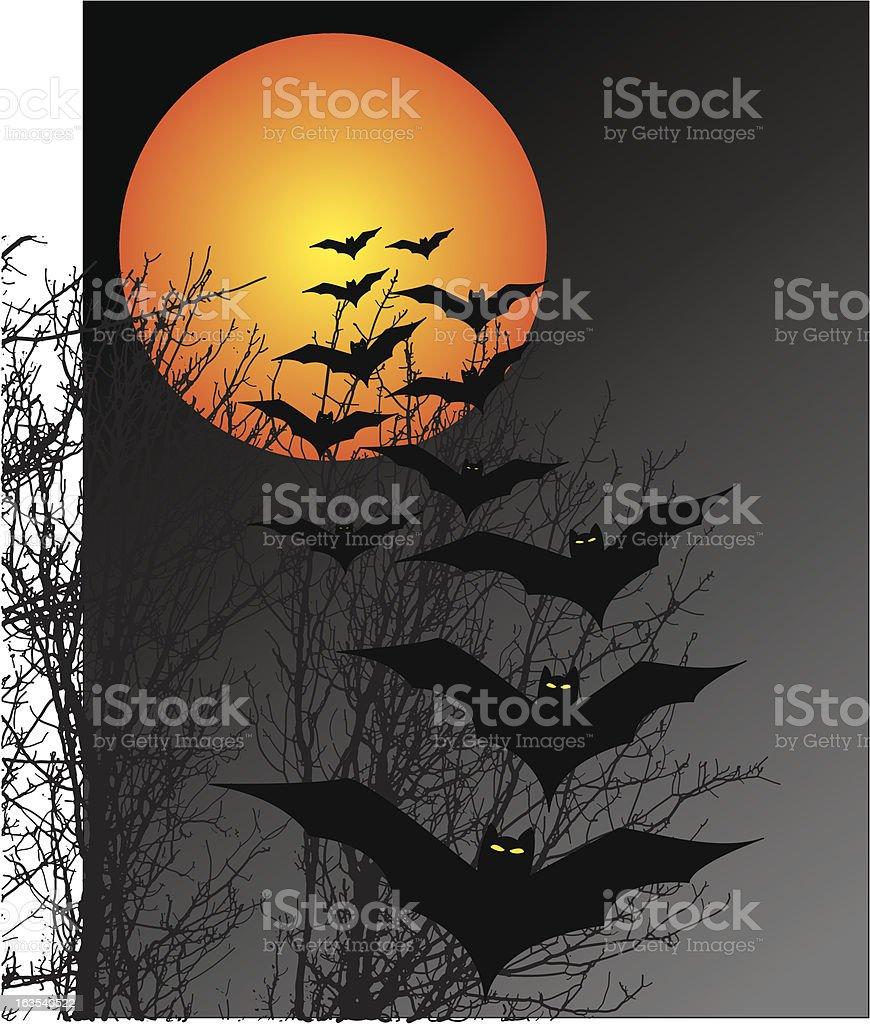 Halloween scene royalty-free stock vector art