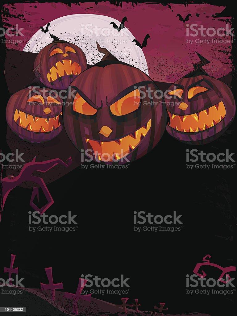 Halloween vector grunge template royalty-free stock vector art