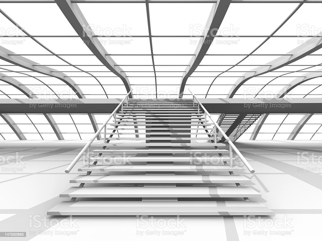 Hallway Architecture royalty-free stock vector art