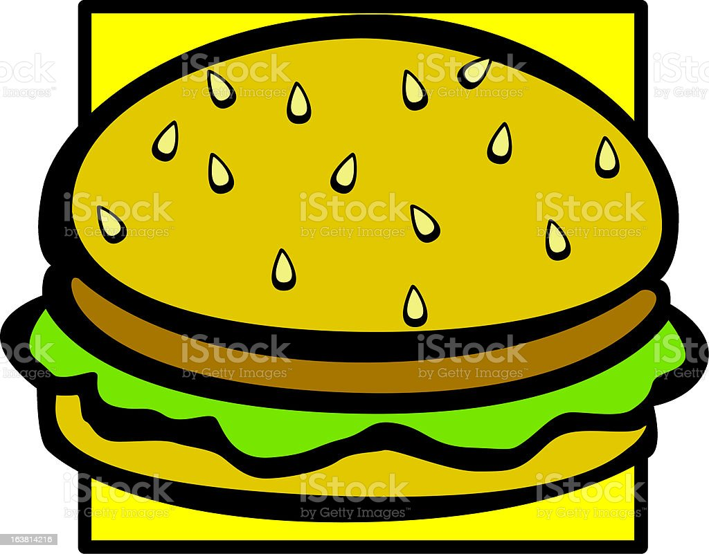hamburger royalty-free stock vector art