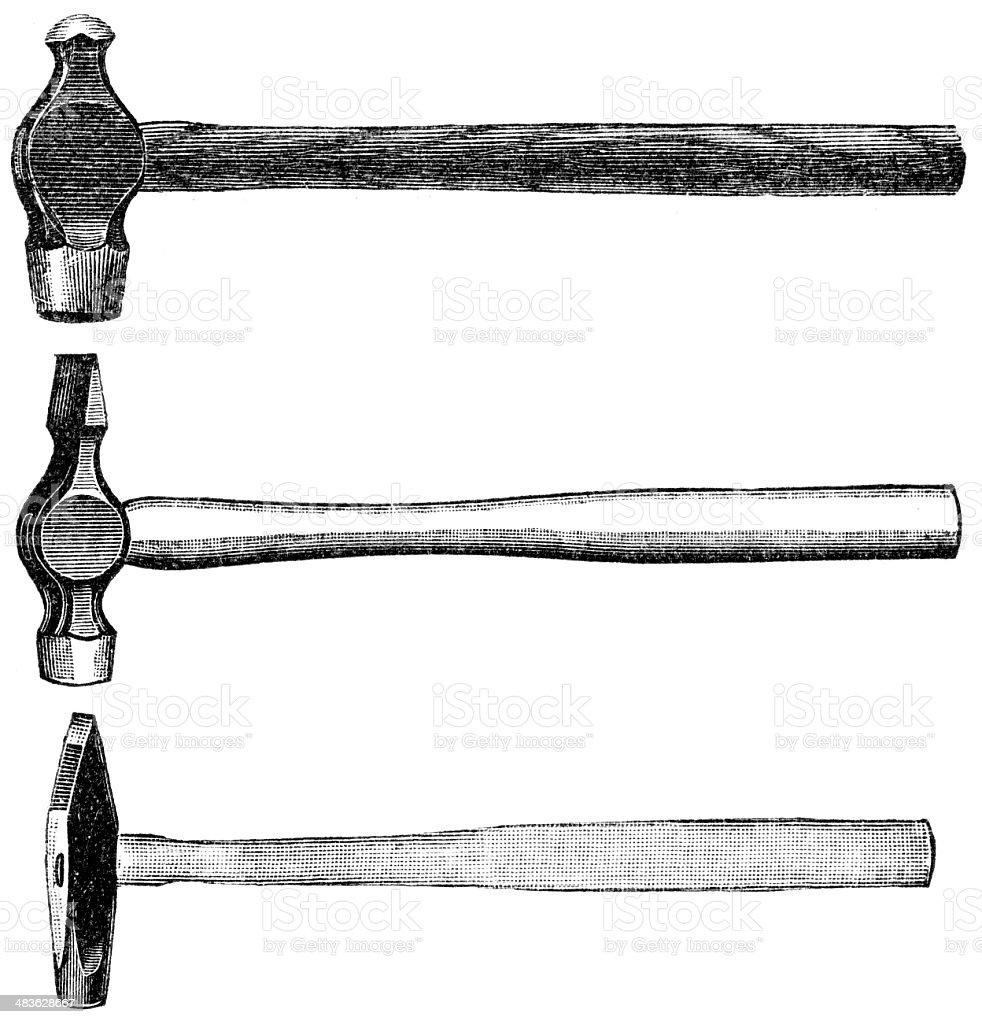 hammer vector art illustration