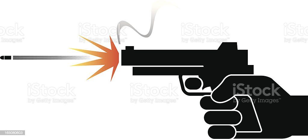 Hand and gun royalty-free stock vector art