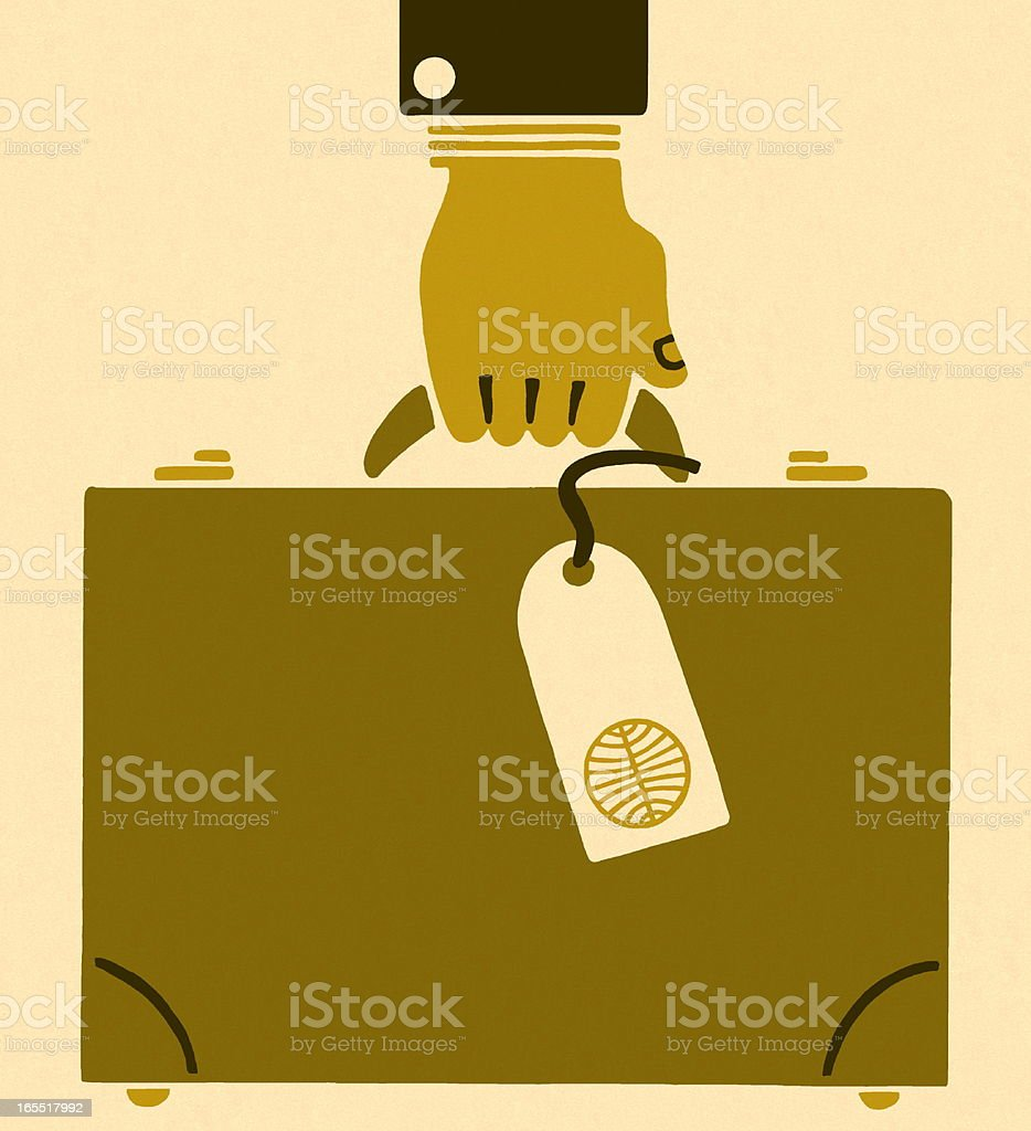 Hand Carrying a Briefcase royalty-free stock vector art