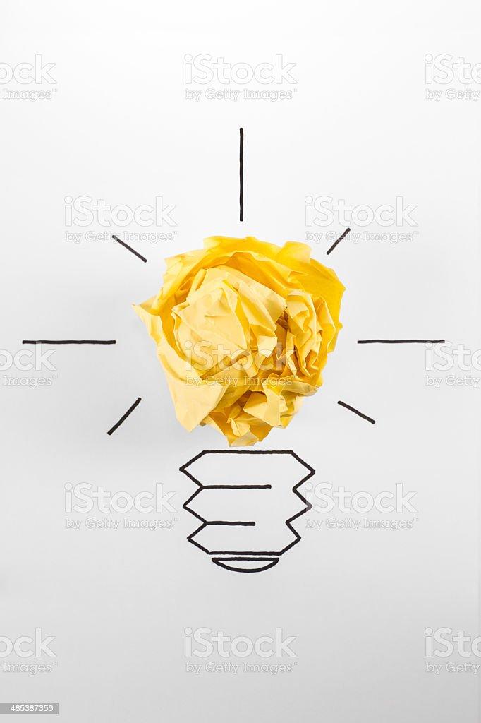 Hand Drawing Light Bulb vector art illustration