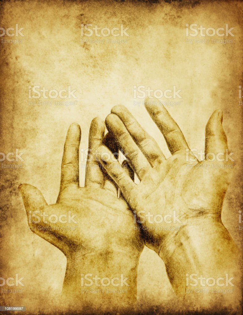 Hand Drawing on a Grungy Paper Background vector art illustration