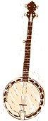 hand drawn banjo