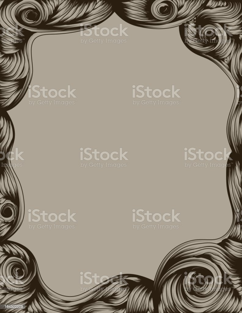 Hand Drawn ornate page border royalty-free stock vector art
