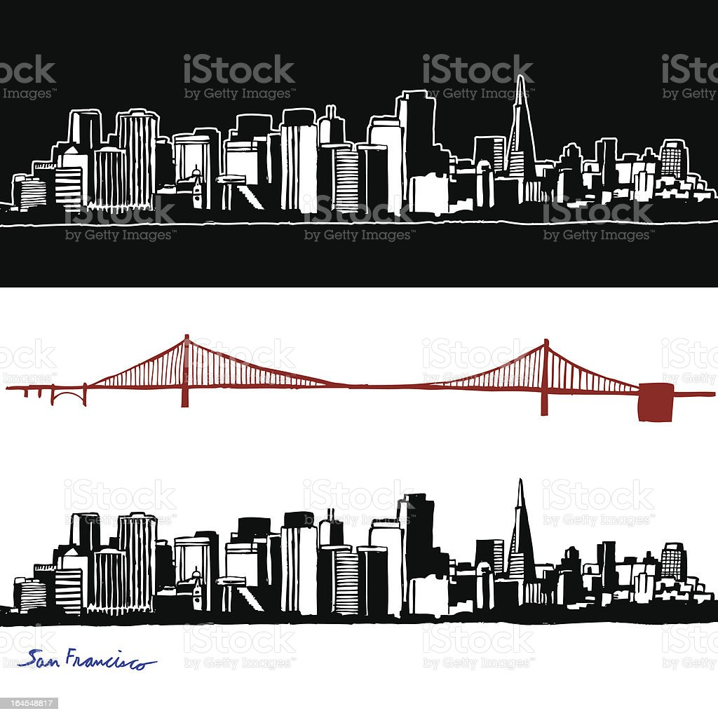 Hand Drawn San Francisco royalty-free stock vector art