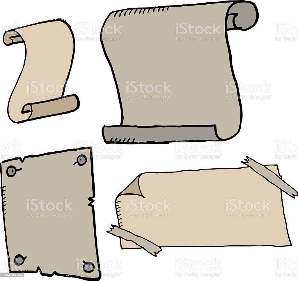 hand drawn scrolls royalty-free stock vector art
