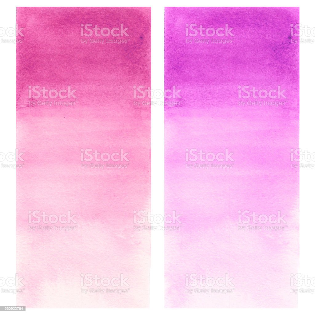 Hand drawn watercolor gradient wash in purple and crimson color vector art illustration