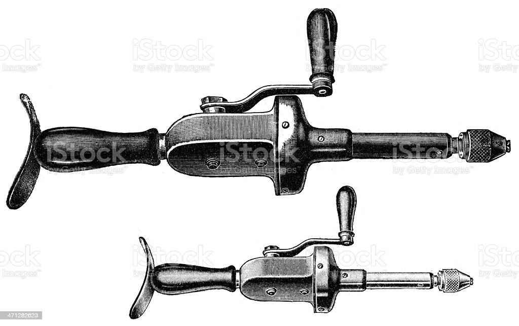 Hand drill vector art illustration