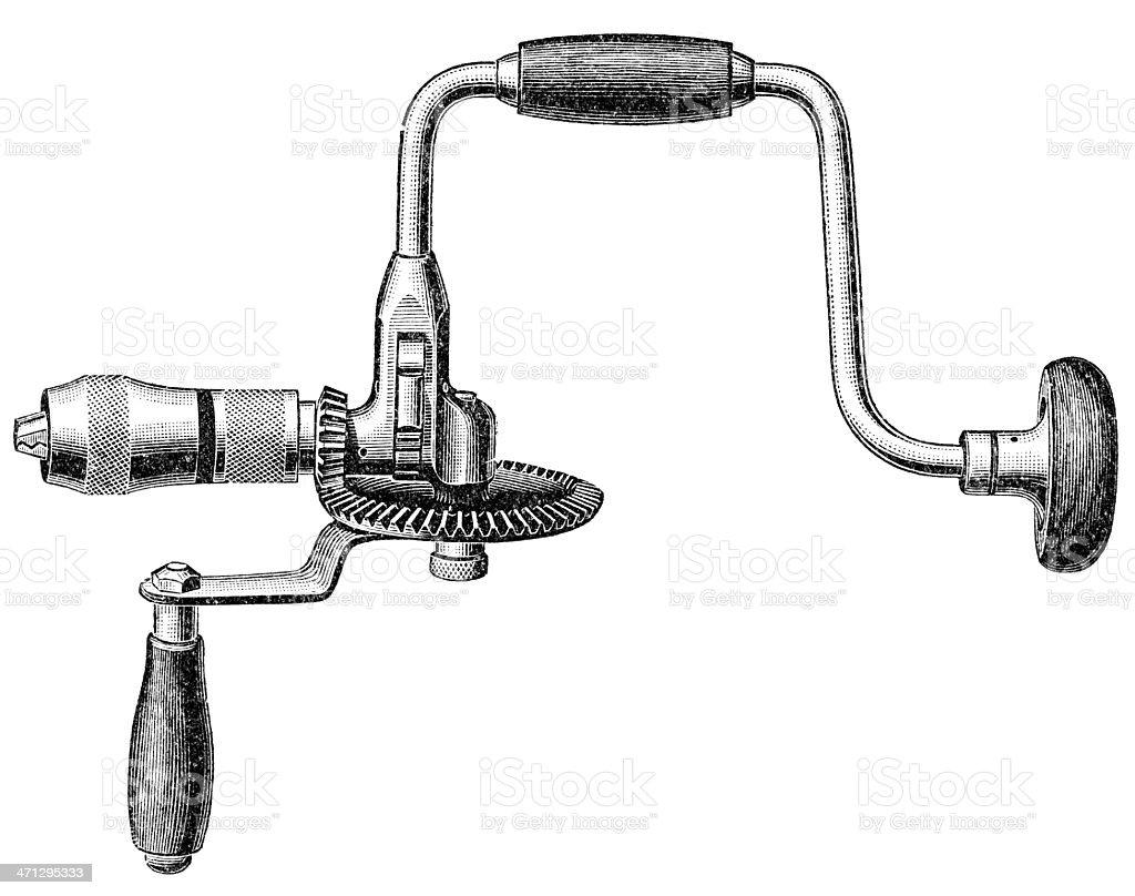 Hand drill royalty-free stock vector art