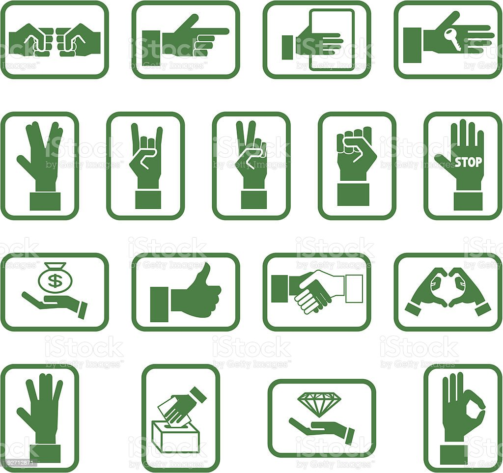 Hand elements royalty-free stock vector art