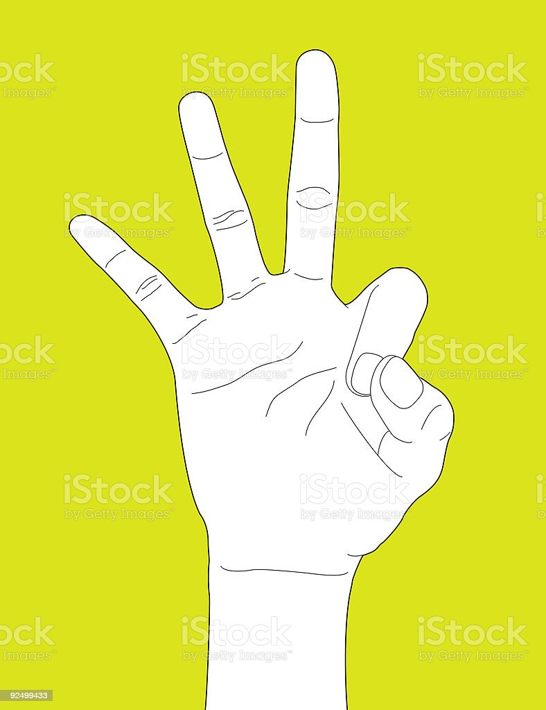 Hand Gesture Okay royalty-free stock vector art
