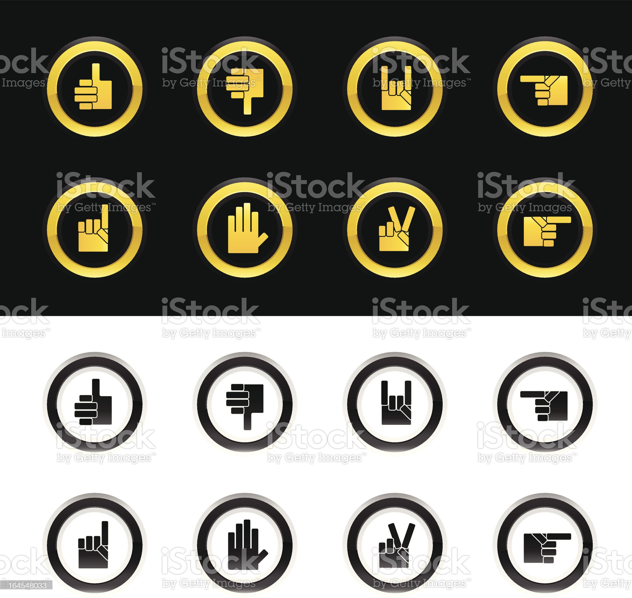 Hand Icons royalty-free stock vector art