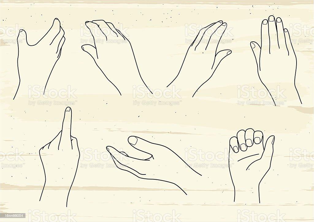 hand image vector art illustration