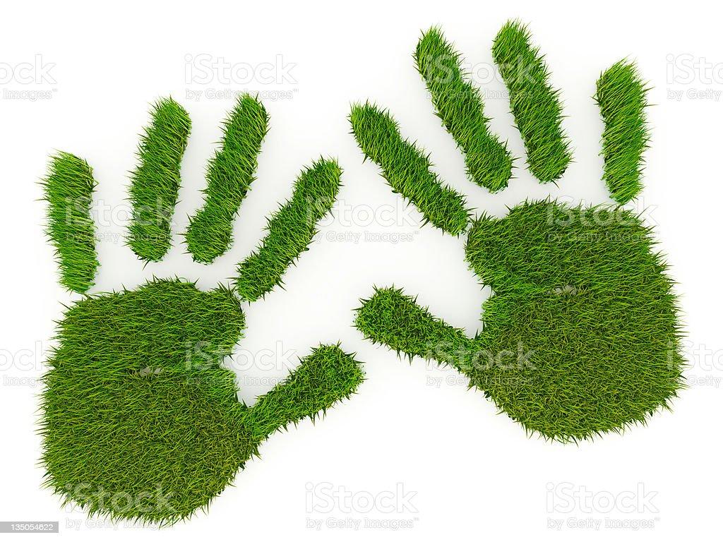 hand imprint. vector art illustration