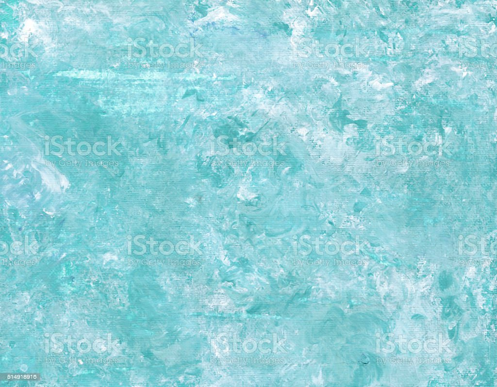 Hand painted acrylic background. Abstract texture. Marble texture. Blue texture. Canvas. vector art illustration
