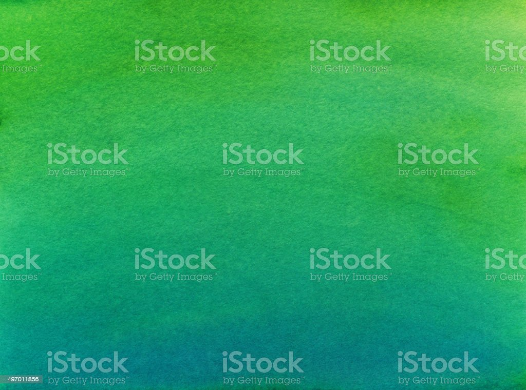Hand painted gradient background with shades of green and blue vector art illustration