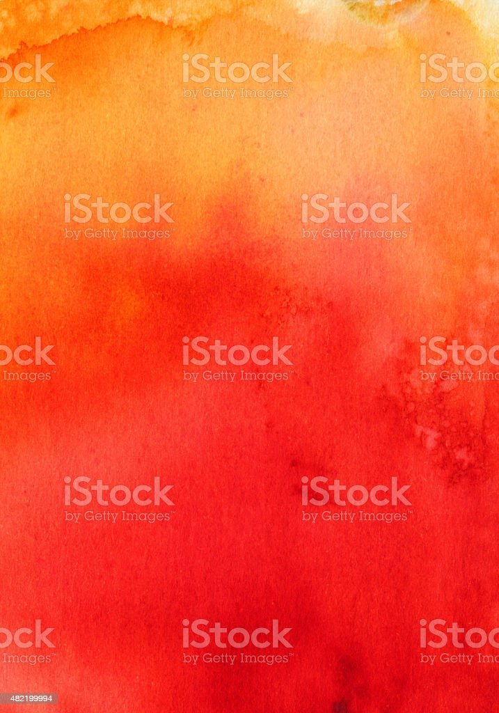 Hand painted red and orange gradient background vector art illustration