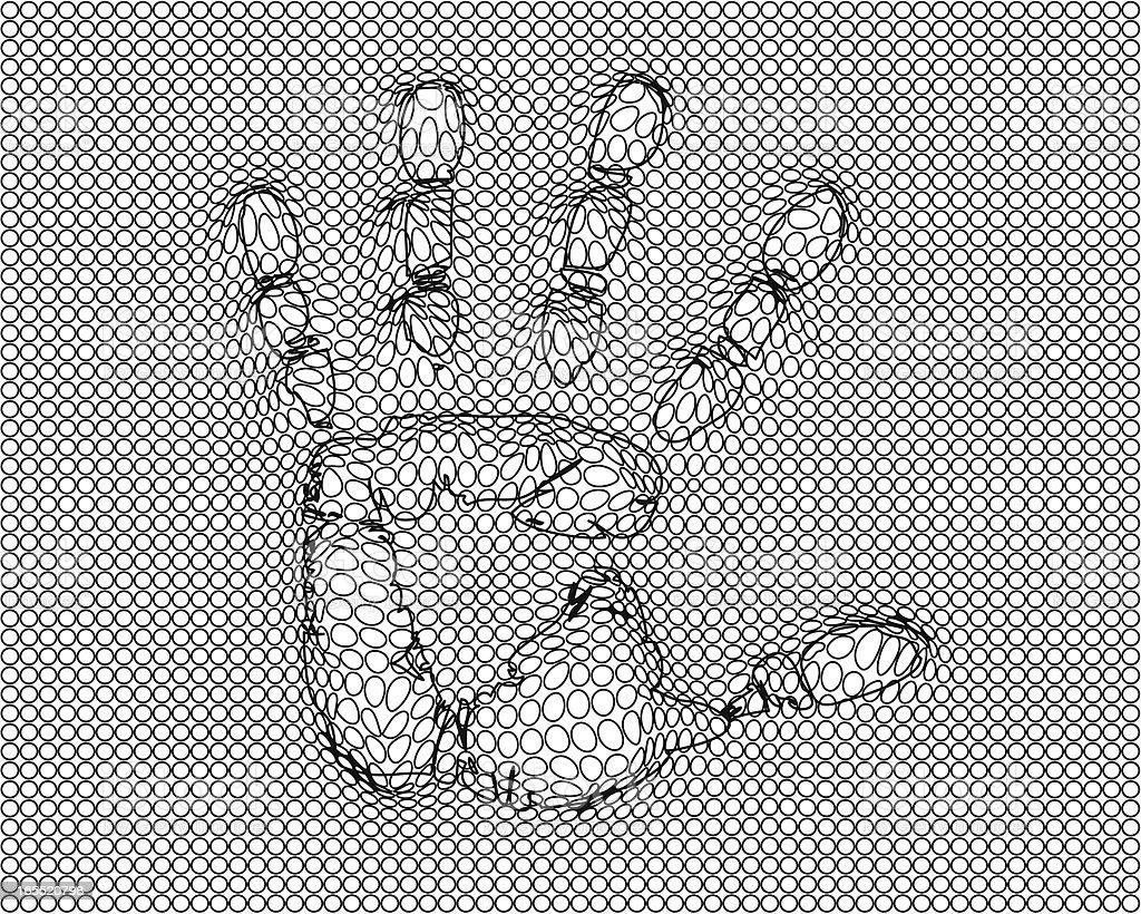 hand print royalty-free stock vector art