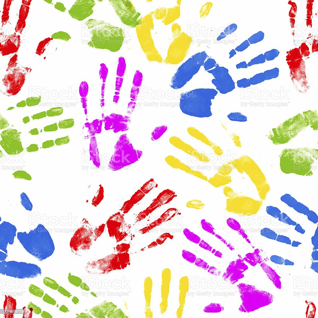 Hand prints royalty-free stock vector art